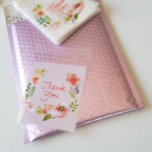 """25 Thank You Clear Bags Threat Bags 3.94"""" inches"""